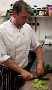 Head Chef David Gilespie dining at the glazert