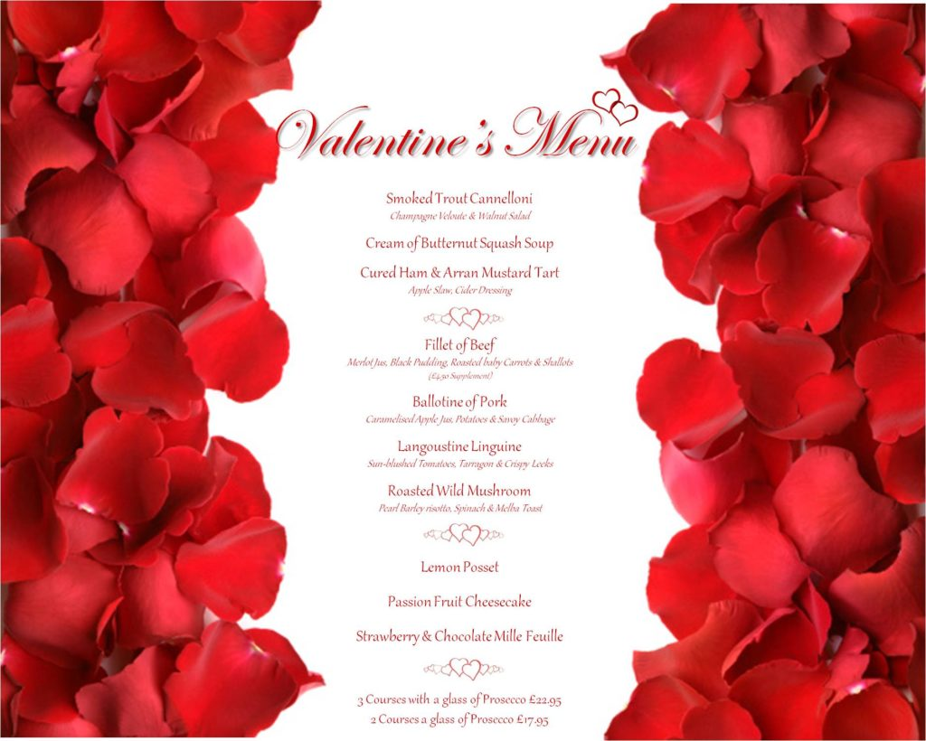Valentine's at The Glazert Country House Hotel
